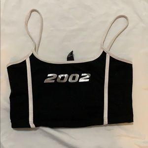 """""""2002"""" crop top"""